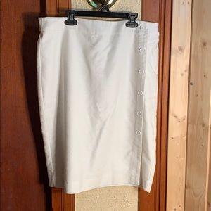 Loft White Pencil Skirt